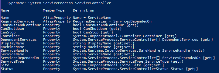 Powershell_ouput_get-service-gm_PropertiesOnly