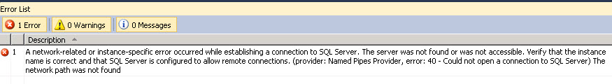 BizTalk-Deploy-SQL-server-not-found_ViewOutput