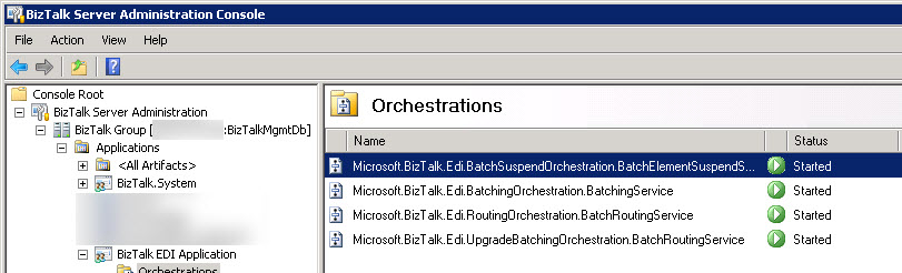 Orchestration included with the BizTalk.EDI.Application