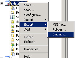 Export Bindings