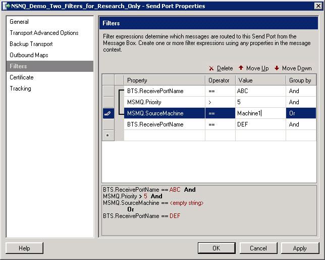 BizTalk_SendPort_Complex_Filters