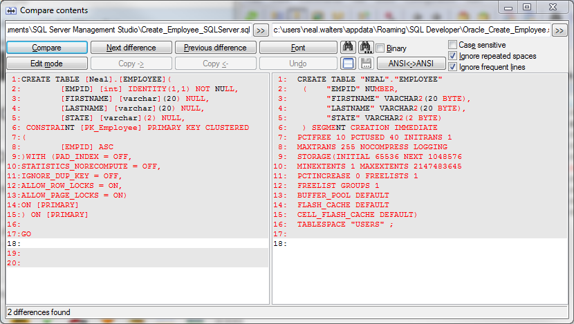 Great Oracle Create Table