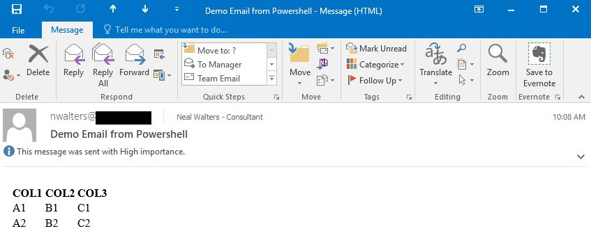 Powershell Oracle DataReader and DataAdapter with HTML/Email